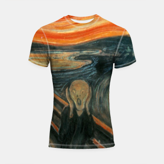 Miniatur Classic Art - The Scream  - Edvard Munch Shortsleeve rashguard, Live Heroes
