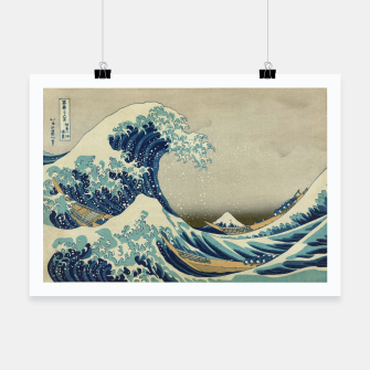 Thumbnail image of The Classic Japanese Great Wave off Kanagawa by Hokusai Poster, Live Heroes