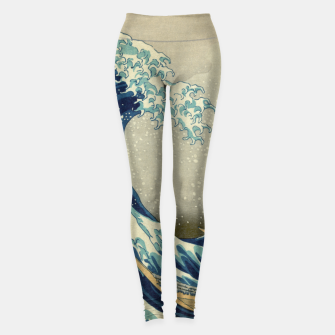 Thumbnail image of The Classic Japanese Great Wave off Kanagawa by Hokusai Leggings, Live Heroes