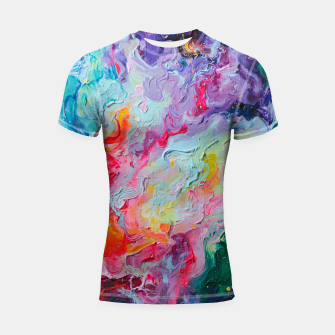 Thumbnail image of Elements. Colorful Flow Abstraction. Shortsleeve Rashguard, Live Heroes