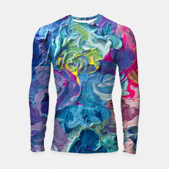 Thumbnail image of Rainbow Abstract Flow Longsleeve Rashguard , Live Heroes