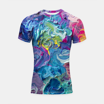 Thumbnail image of Rainbow Abstract Flow Shortsleeve Rashguard, Live Heroes