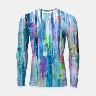 Thumbnail image of Silver Rain - Hologram Abstract Painting Longsleeve Rashguard , Live Heroes
