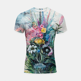 Thumbnail image of The Last Flowers Shortsleeve Rashguard, Live Heroes