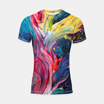 Thumbnail image of Bird Flower - Rainbow Abstraction. Shortsleeve Rashguard, Live Heroes