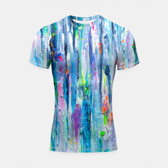 Thumbnail image of Silver Rain - Hologram Abstract Painting Shortsleeve Rashguard, Live Heroes