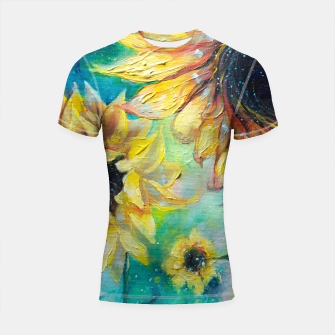 Thumbnail image of Supermassive Sunflowers Shortsleeve Rashguard, Live Heroes