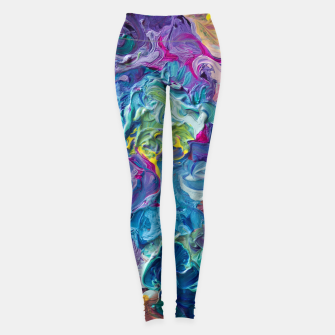 Thumbnail image of Rainbow Abstract Flow Leggings, Live Heroes