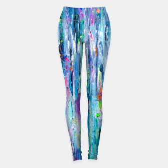Thumbnail image of Silver Rain - Hologram Abstract Painting Leggings, Live Heroes