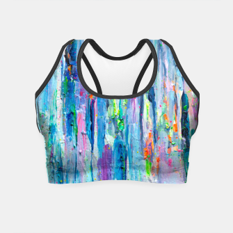 Thumbnail image of Silver Rain - Hologram Abstract Painting Crop Top, Live Heroes