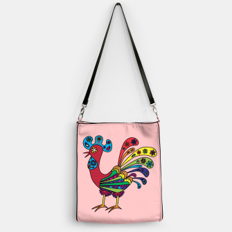 Thumbnail image of Decorative colored rooster Handbag, Live Heroes
