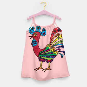 Thumbnail image of Decorative colored rooster Girl's Dress, Live Heroes