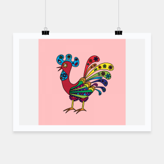 Thumbnail image of Decorative colored rooster Poster, Live Heroes