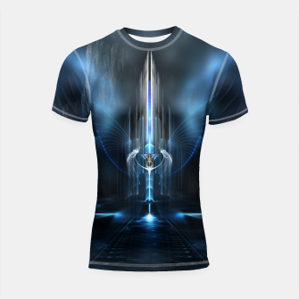 Thumbnail image of The Sanctuary Of Light Shortsleeve Rashguard, Live Heroes