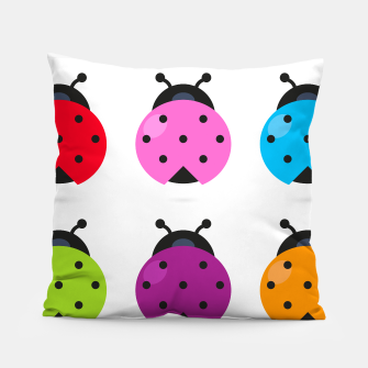 Thumbnail image of ART PILLOW WITH COLORE BUGS, Live Heroes