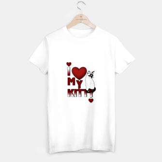 Thumbnail image of I Love My Kitty Cat T-shirt regular, Live Heroes
