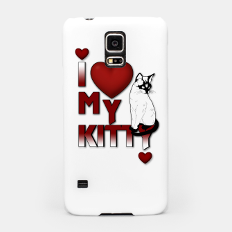 Thumbnail image of I Love My Kitty Cat Samsung Case, Live Heroes