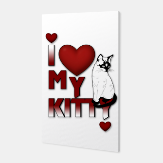Thumbnail image of I Love My Kitty Cat Canvas, Live Heroes