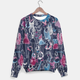 Thumbnail image of funny fashion girls pattern Sweater, Live Heroes