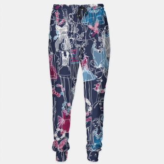 Thumbnail image of funny fashion girls pattern Sweatpants, Live Heroes