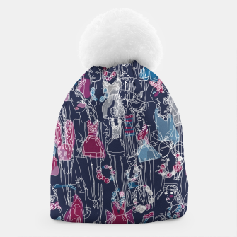 Thumbnail image of funny fashion girls pattern Beanie, Live Heroes