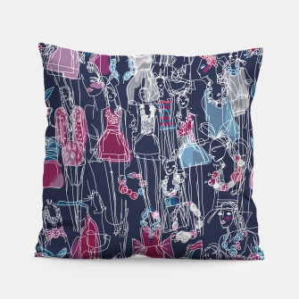 Thumbnail image of funny fashion girls pattern Pillow, Live Heroes