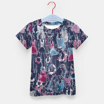 Thumbnail image of funny fashion girls pattern Kid's T-shirt, Live Heroes