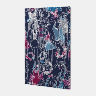 Thumbnail image of funny fashion girls pattern Canvas, Live Heroes