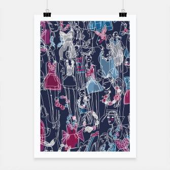 Thumbnail image of funny fashion girls pattern Poster, Live Heroes