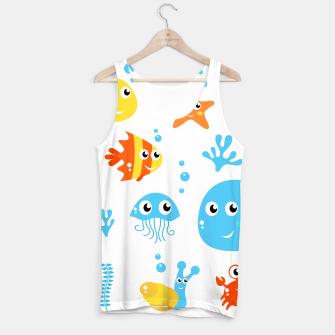 Miniatur Tank Top with Happy Creatures : T-shirts with Mare Creatures, Live Heroes