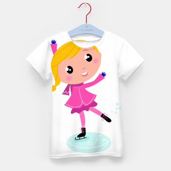 Thumbnail image of Artistic T-shirt with Ice skating Girl , Live Heroes
