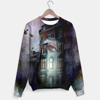 Thumbnail image of observers in the haunted house Sweater, Live Heroes