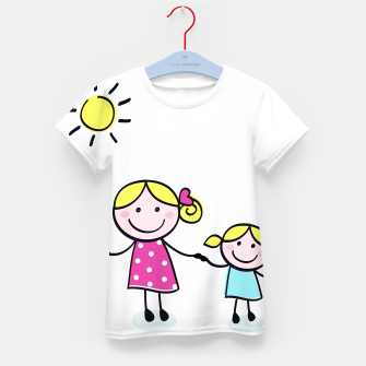 Miniaturka Artistic tshirt with PRINTED FAMILY and SUN, Live Heroes