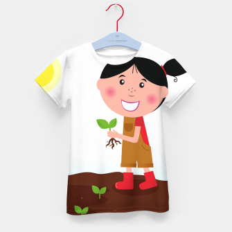Thumbnail image of Artistic Kids tshirt with Agriculture girl, Live Heroes