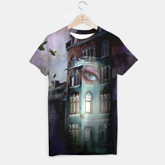 Thumbnail image of observers in the haunted house T-shirt, Live Heroes