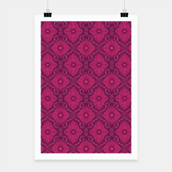 "Thumbnail image of ""Ruby flower"" bohemian pattern Poster, Live Heroes"