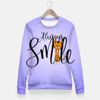 Always smile Fitted Waist Sweater obraz miniatury