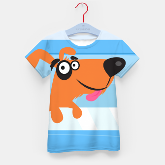 Thumbnail image of Kids tshirt with Travel doggie BLUE, Live Heroes