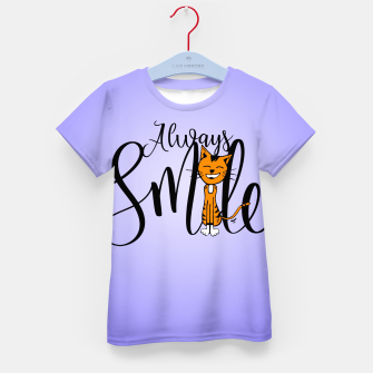 Always smile Kid's T-shirt obraz miniatury