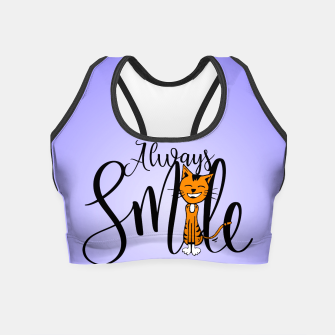 Always smile Crop Top obraz miniatury
