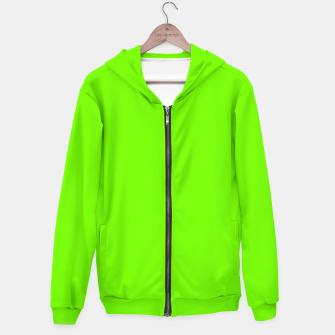 Bright Fluorescent Green Neon Zip up hoodie imagen en miniatura