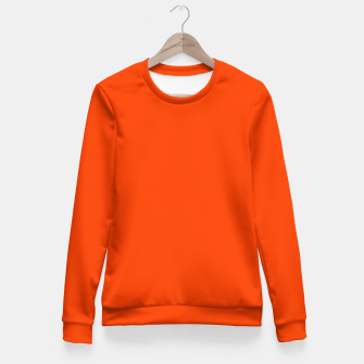 Fluorescent Attack Orange Neon Fitted Waist Sweater imagen en miniatura