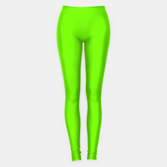 Bright Fluorescent Green Neon Leggings imagen en miniatura