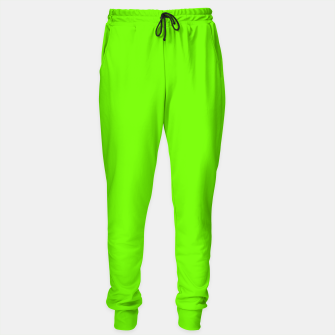 Bright Fluorescent Green Neon Sweatpants imagen en miniatura
