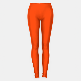 Fluorescent Attack Orange Neon Leggings imagen en miniatura