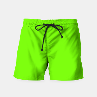 Bright Fluorescent Green Neon Swim Shorts imagen en miniatura