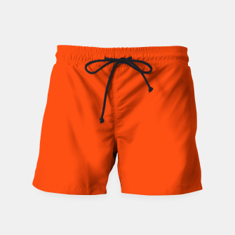 Fluorescent Attack Orange Neon Swim Shorts imagen en miniatura