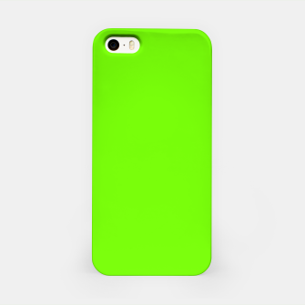 Bright Fluorescent Green Neon iPhone Case imagen en miniatura