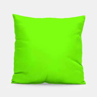 Bright Fluorescent Green Neon Pillow imagen en miniatura