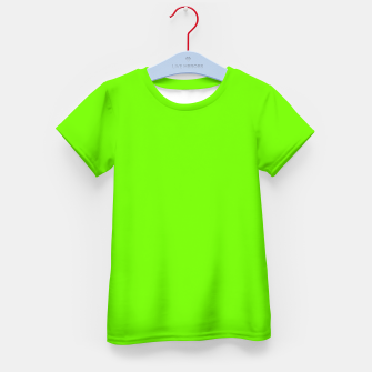 Bright Fluorescent Green Neon Kid's t-shirt imagen en miniatura